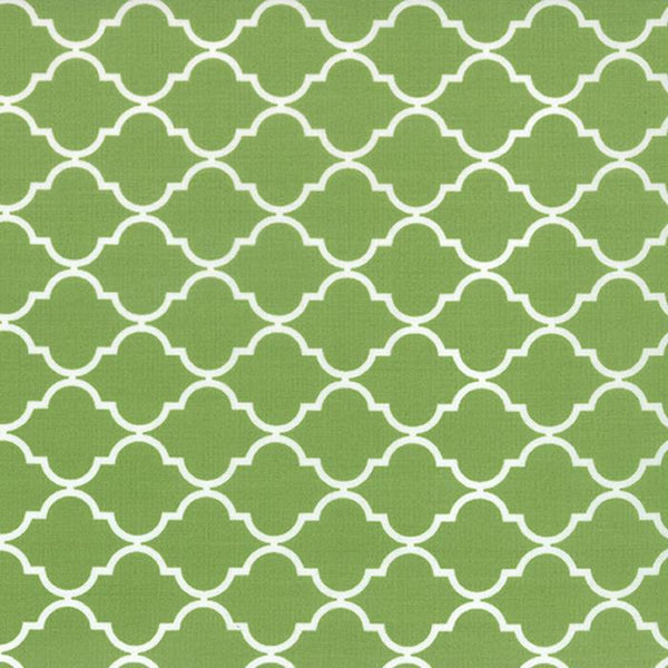 Geometric Quatrefoil Fresh Grass