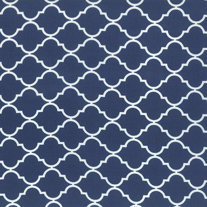 Quattro Piccolo Geometric Quatrefoil Nautical Blue