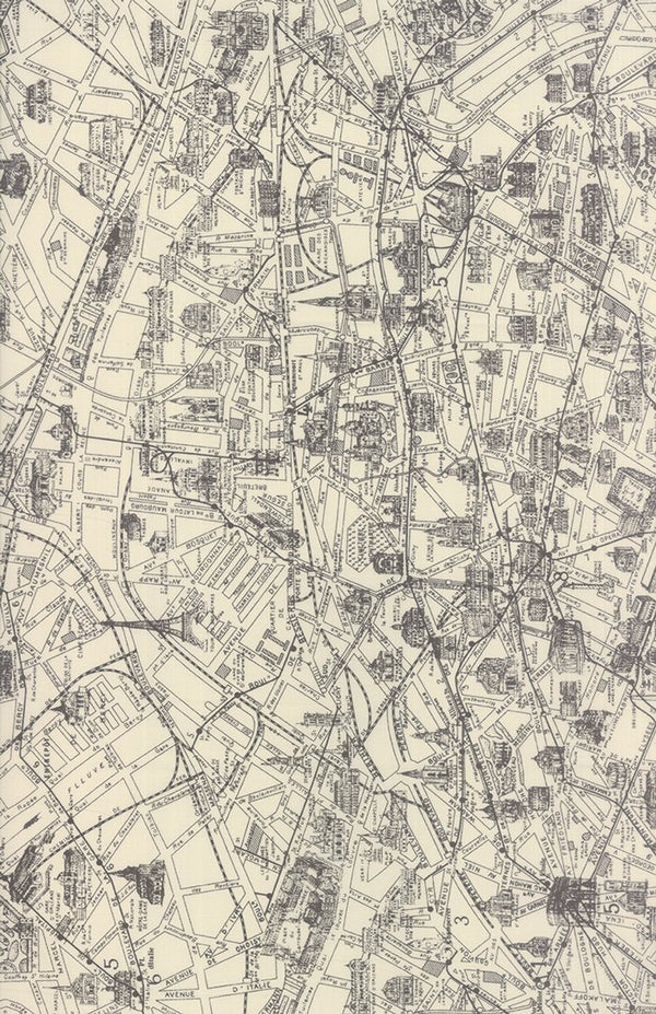 Paris Map Parchment