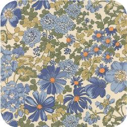 Floral Covent Garden Ivory Blue