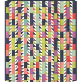 Sawtooth Stems Quilt Pattern