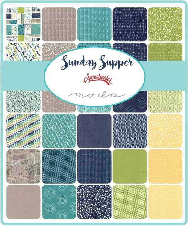 "Sunday Supper Charm Squares 5"" x 5"""