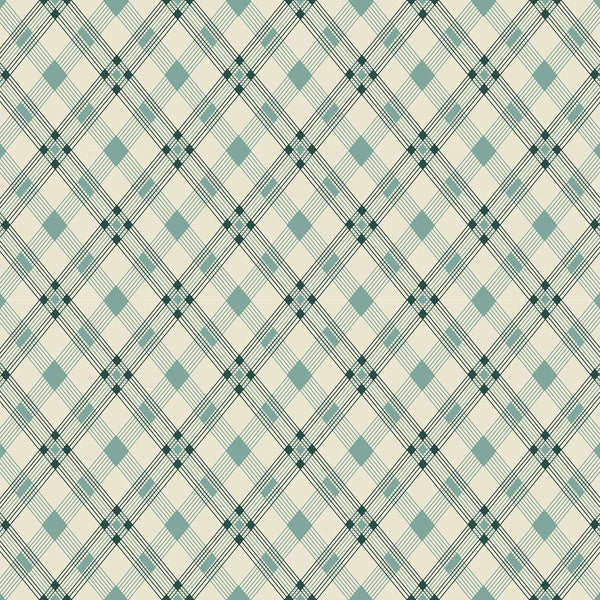 Open Plaid Teal