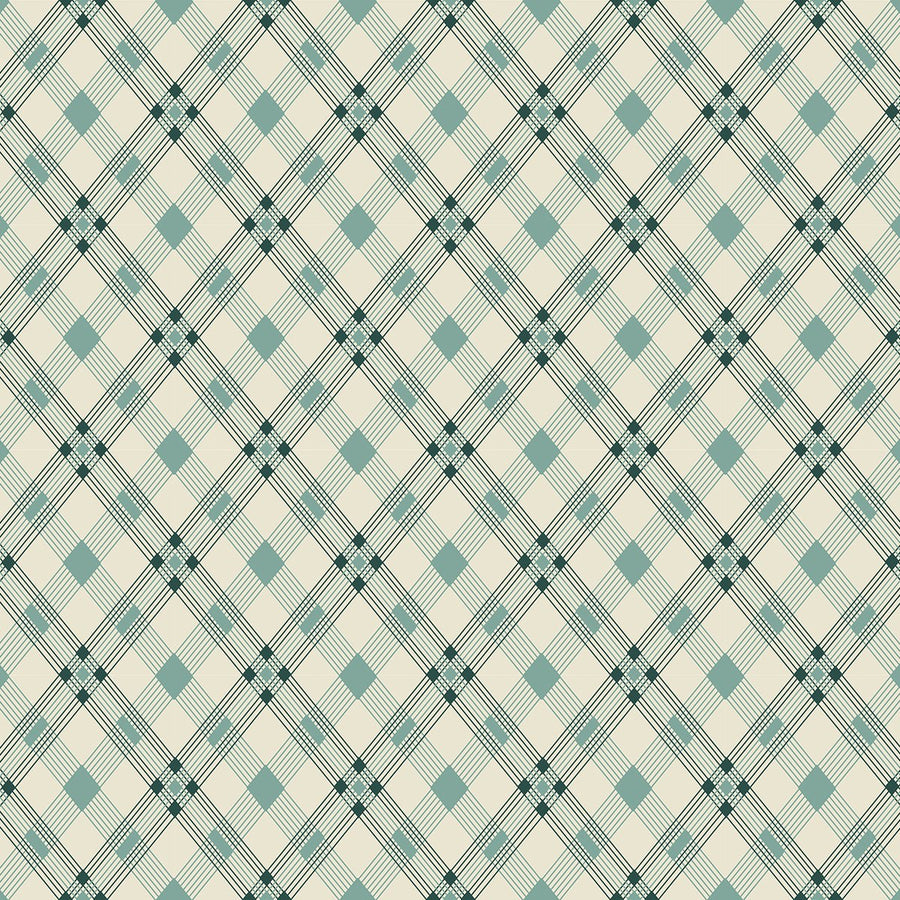 Washington Depot Open Plaid Teal