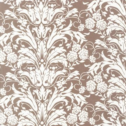 Floral Damask Taupe