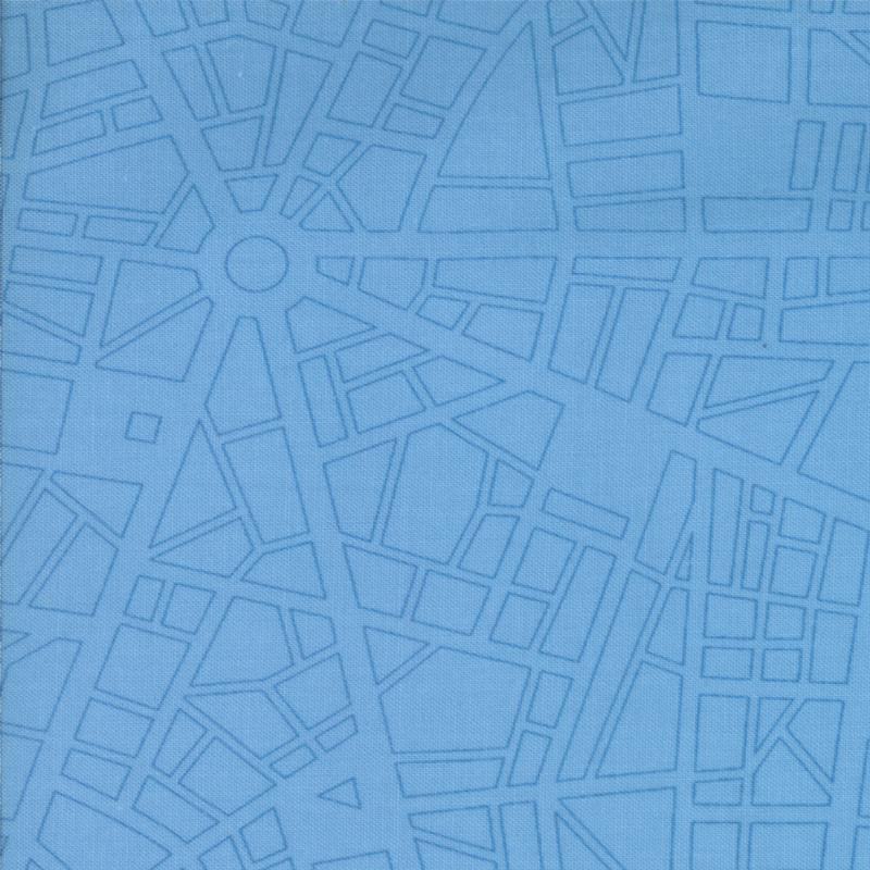 Barcelona City Map Sky