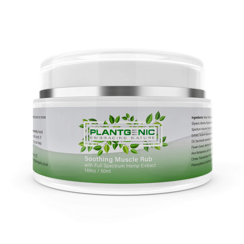 Plantgenic Embracing Nature CBD Cream for Pain relief with 150mg of Full Spectrum Hemp Extract, Arnica and Lavender.