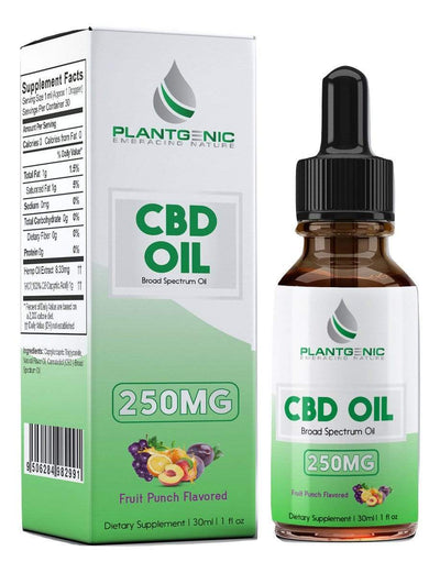 Plantgenic Embracing Nature CBD Oil Broad Spectrum 250mg Fruit Punch Flavored (Coming Soon)