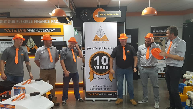 AccurA Diamond Tools proudly serving you for 10 years.