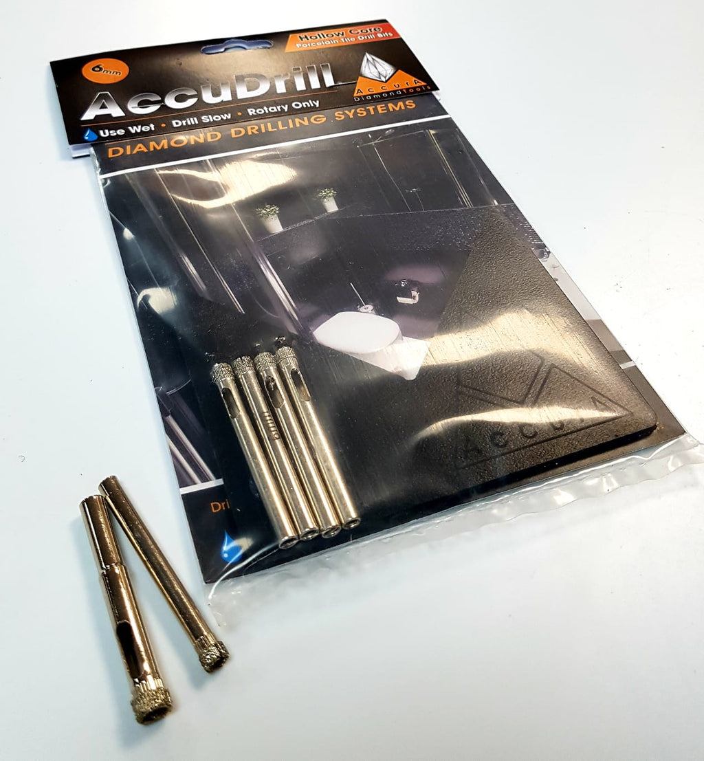 AccuDrill Wet Porcelain Tile Drill Bits 6mm to 125mm