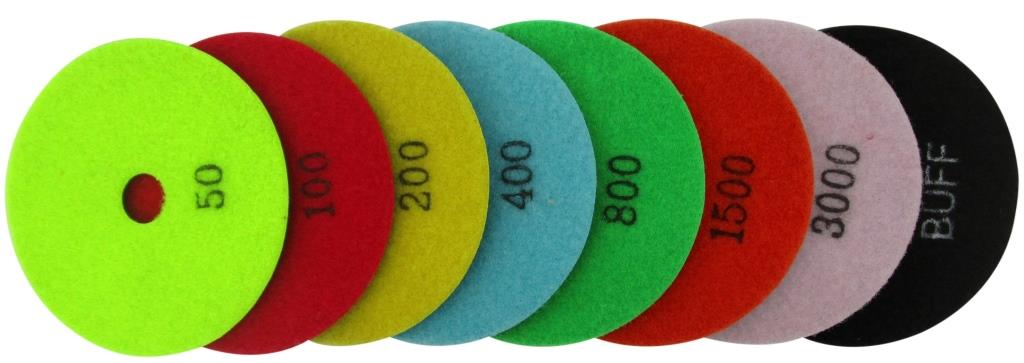 DH24007 Diamond Polishing Pads Dry