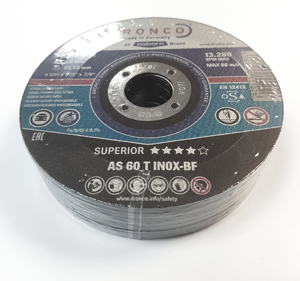 Dronco Steel Cutting Discs  Abrasive/Silicon Carbide Discs 115mm-350mm