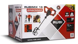 RUBIMIX 16 Mixer - 1600 Watt  110V / 220V Paddle Mixer  (Quick Adjustable Height)