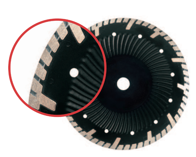 CTSS- Continuous Turbo Side Spoke Blade with Wave Core for  Granite & Concrete