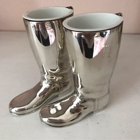 Pair of Silver Plated boot shot measures