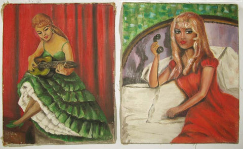Two original paintings on canvas.