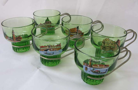 Venetian Glass Cups