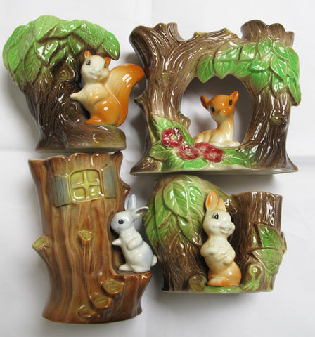 Vases - cute woodland creatures