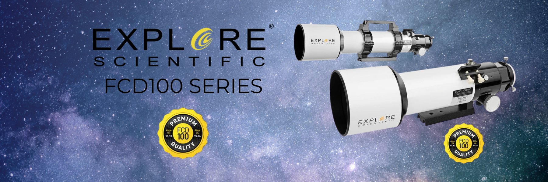FCD100 Series. A Collection of High Quality Extra-Low Dispersion (ED) Apochromatic (APO) Refractors from Explore Scientific
