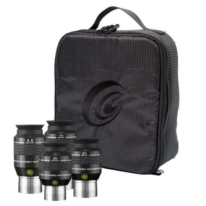 AstralScopes:Explore Scientific 4.5mm, 10mm, 20mm and 30mm 52 Degree Waterproof Eyepieces with Soft Case