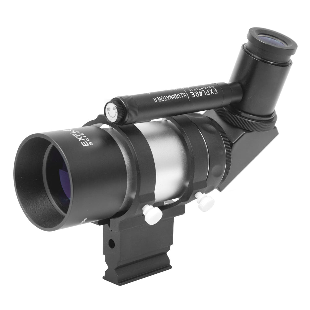 AstralScopes:Explore Scientific 8x50 Illuminated Right Angle Polar Finder Scope with NEW long battery life Illuminator II