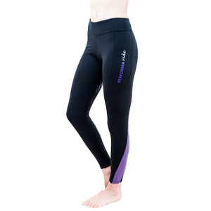 Youth Colour Block Winter Riding Tights