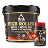 HIGH ROLLER MASS GAINER 5000 4KG + PIT BOSS TESTOSTERONE BOOSTER