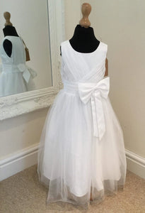 CRISSCROSS BOW FLOWER GIRL DRESS