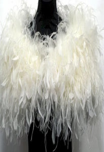 JOAN LEE OSTRICH FEATHER WRAP