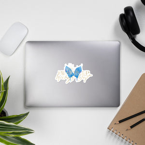 Bubble-free stickers - Blue Butterfly
