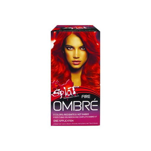 Splat Hair Color Ombre Fire Fire Red Hot Ember