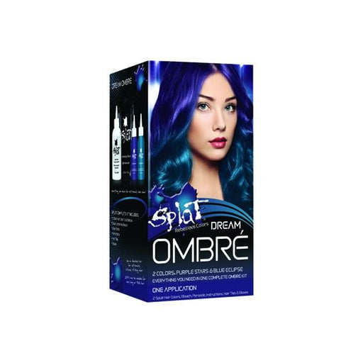 Splat Hair Color Ombre Dream Purple Stars Blue Dreams