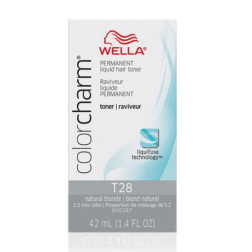 Wella Color Charm Permanent Liquid Hair Toner, T28 Natural Blonde, 1.4 Oz.