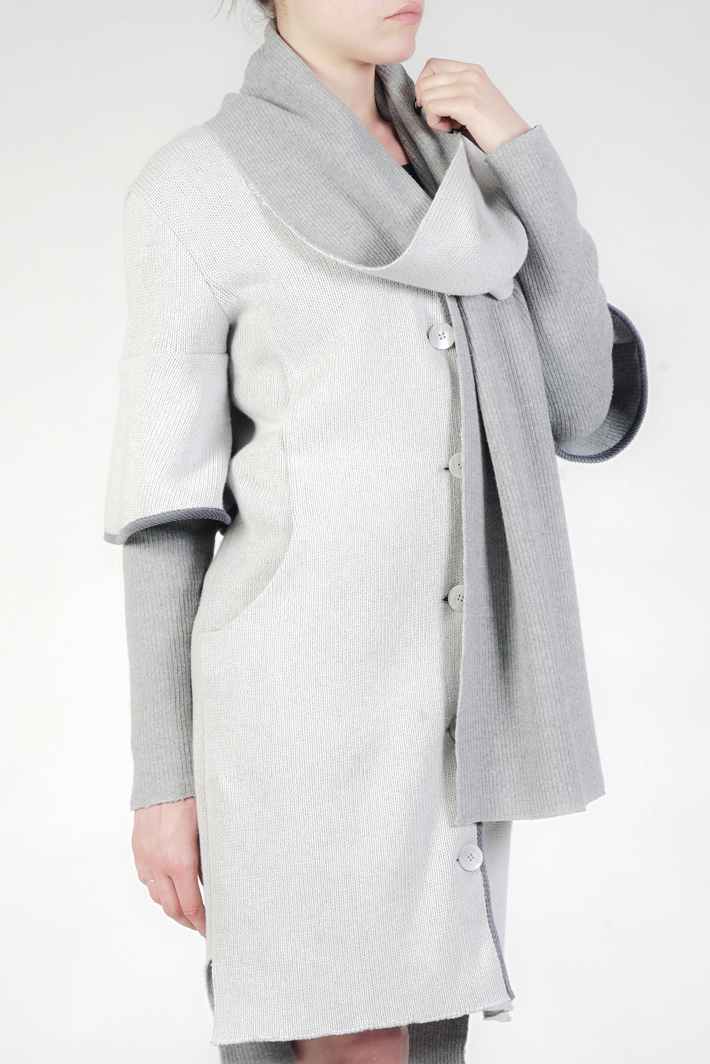 Cappotto double face cotone ecotec
