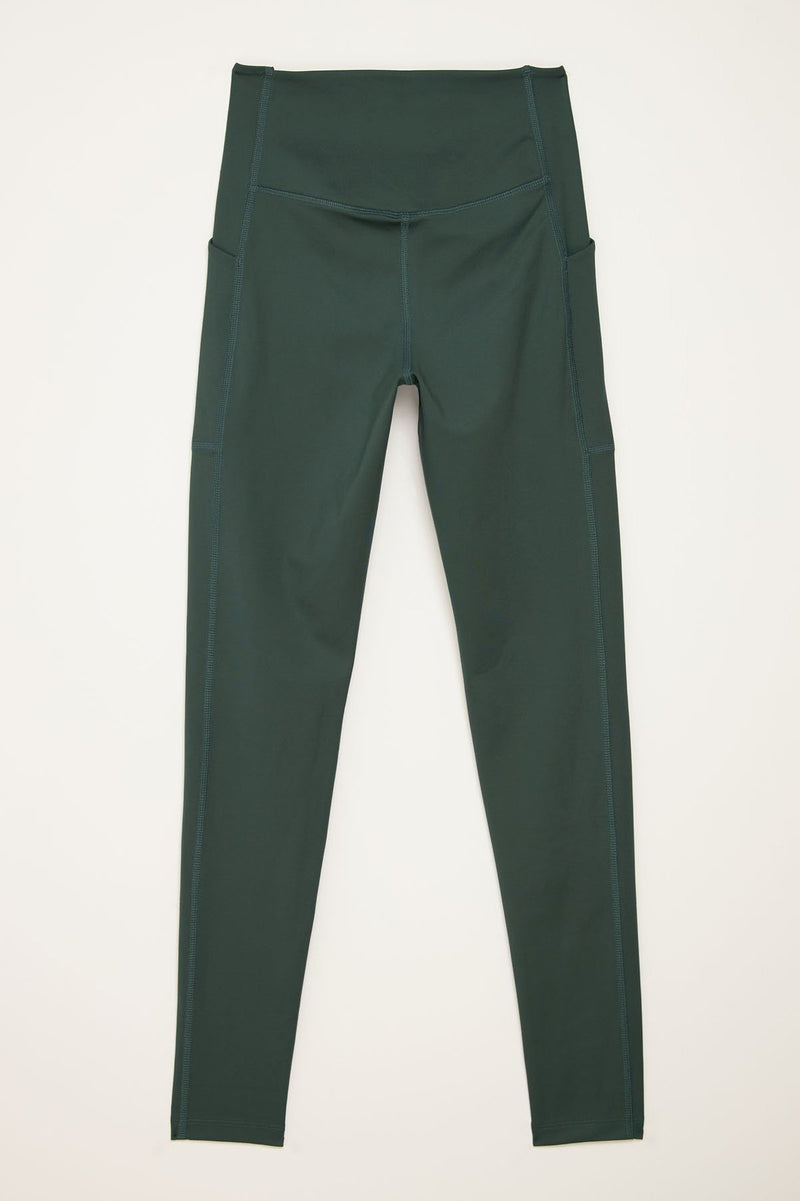 High-Rise Pocket Legging in Moss - Girlfriend Collective
