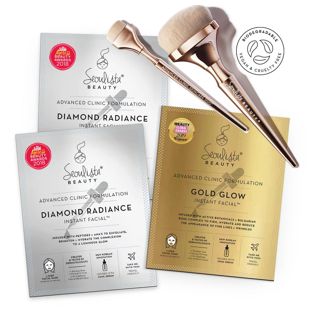 Seoulista Beauty Advanced Clinic Formulation Expert Glow Skin Kit with Brushes - Seoulista Beauty