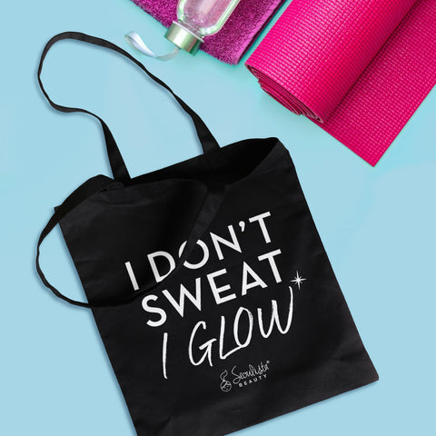 Seoulista Beauty I don't sweat I glow eco tote bag - Seoulista Beauty