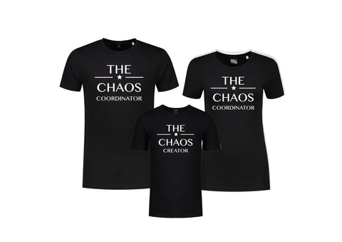 Set (2) T-Shirts Chaos Vrouw-Kind