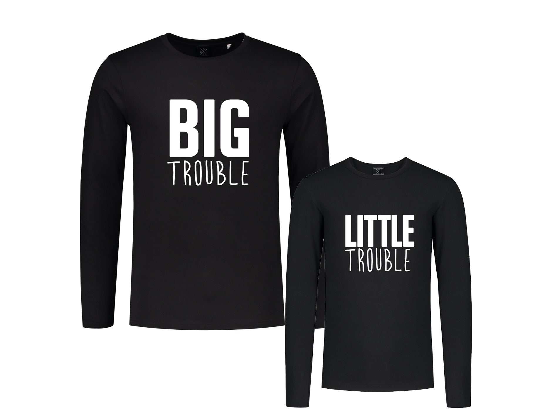 Set (2) Longsleeves Trouble Man-Kind