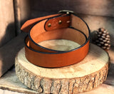 "English Bridle Leather Belt ""Golden Brown"" - M & W Leather"