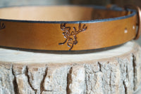 Leather Children's Belt-Deer head - M & W Leather