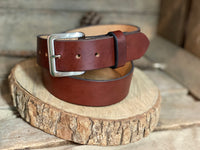 "Leather belt 1.5""-Full Grain leather ,Men's leather belt women's leather belt personalized gift USA"