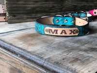 "Aztec Dog Collar- Standard 1"" Width - M & W Leather"