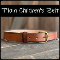 Leather Children's Belt - M & W Leather