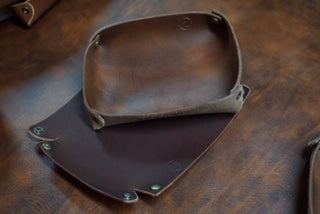 M&W Valet Leather Catch All Tray - M & W Leather