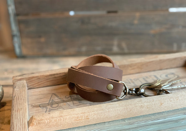 Leather Lanyard- Personalized Lanyard with Swivel Snap - M & W Leather