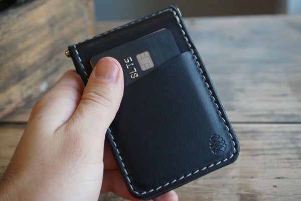 The Keeper leather money clip wallet - M & W Leather