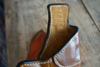 Leather Gun Holster- The Revolutionary with Suede Lining - M & W Leather