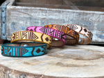 Aztec Leather Bracelet - M & W Leather
