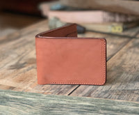 The Jefferson Bi-fold Wallet in Chestnut - M & W Leather